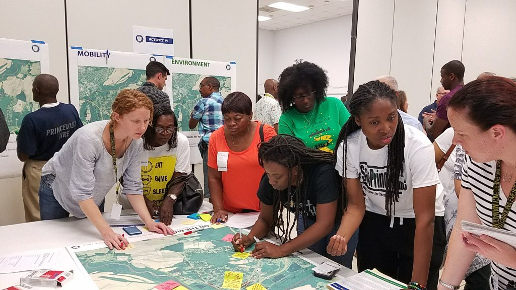 Students and faculty from the University of North Carolina at Chapel Hill North Carolina State University worked with residents on designs for a potential expansion of the town in August 2017.