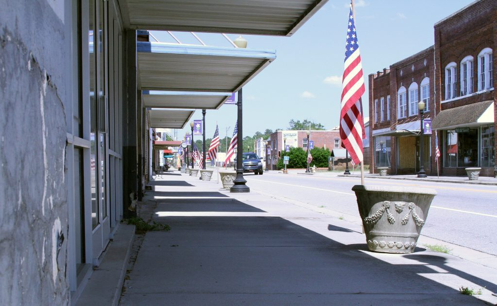 Downtown Fair Bluff, N.C. is one of three communities' downtowns being studied for assistance in revitalization. Photo by Darien Williams.