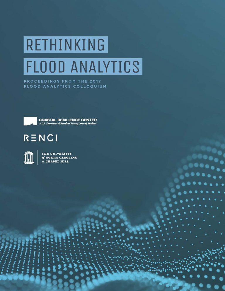 """Cover of the """"Rethinking Flood Analytics"""" report"""