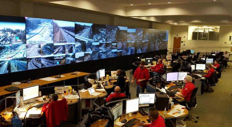 "Students got to see the North Carolina Emergency Operations Center's ""command center"" during a Feb. 11, 2016, visit."