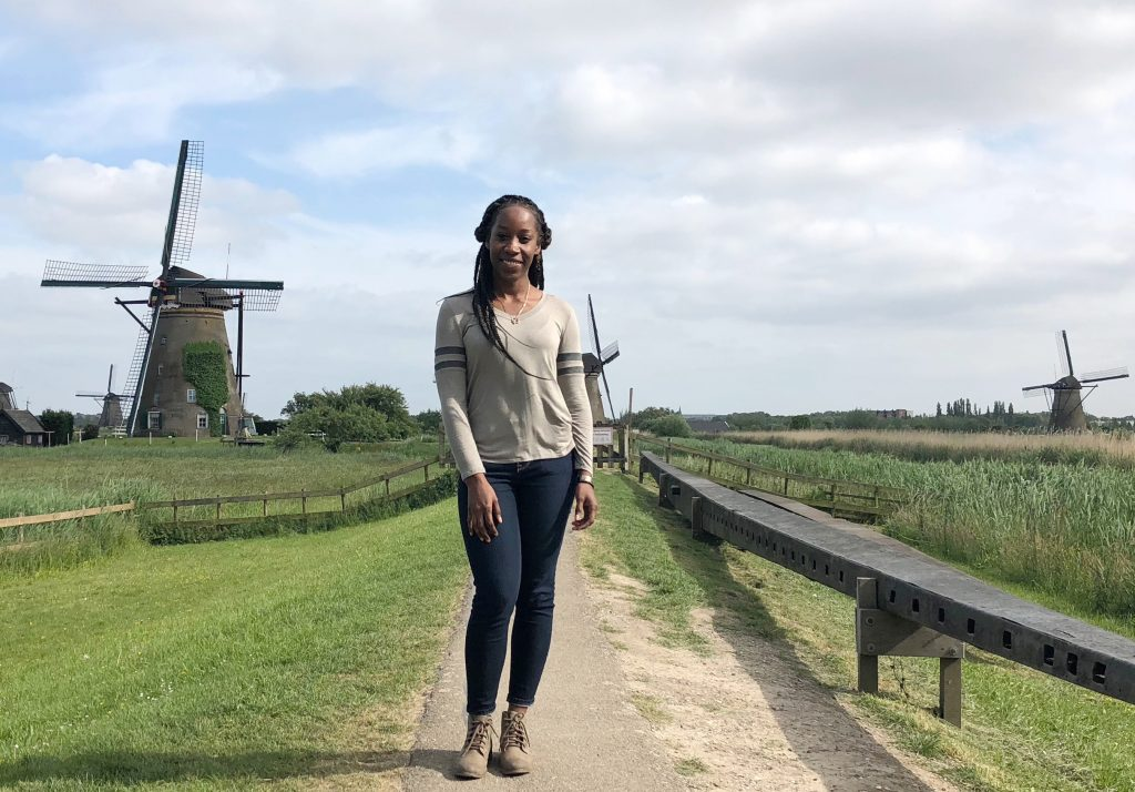 Sabrina Welch of Jackson State University visited The Netherlands as part of a project where she learned about flood-control innovations.