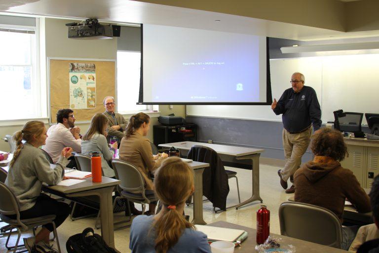 FEMA Administrator Craig Fugate addresses a class at UNC-Chapel Hill