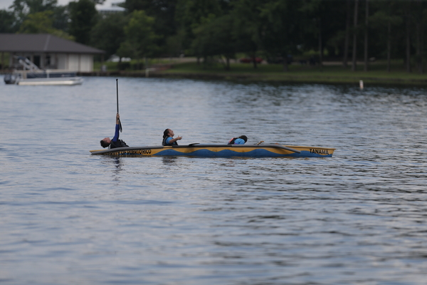 The University of Puerto Rico-Mayagüez compete in the during the Concrete Canoe Competition