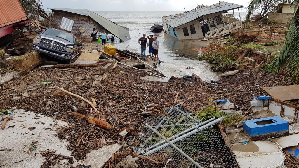 Damage at the El Mani coastal community in the aftermath of Hurricane María in September 2017. Photo by Ismael Pagán-Trinidad.