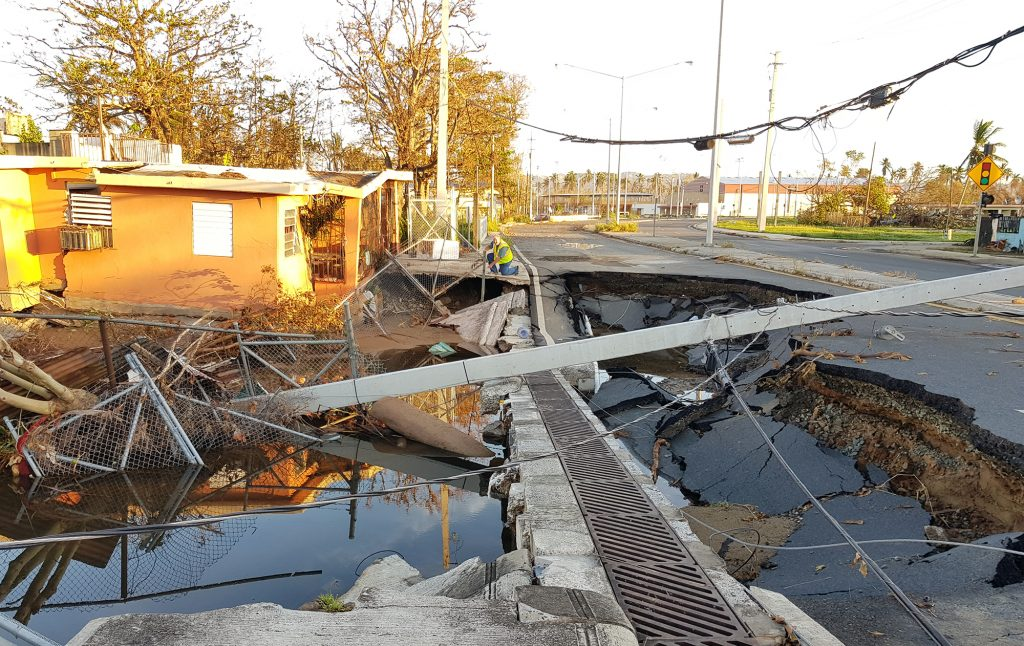 A wide range of infrastructure wad damaged by Hurricane María in September 2017. Photo by Ismael Pagán-Trinidad.