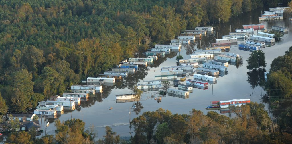 Flood waters remain high throughout neighborhoods in Kinston after Hurricane Matthew. Photo by Jocelyn Augustino/FEMA.