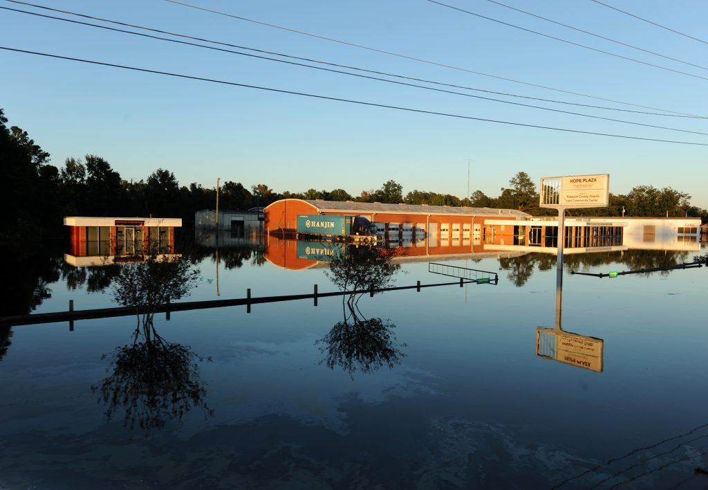 High flood waters remain in neighborhoods impacted by Hurricane Matthew. Photo by Jocelyn Augustino/FEMA.