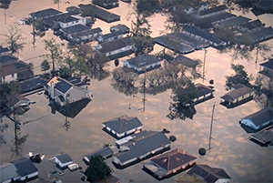 Image from a CRC video of flooding in eastern North Carolina.