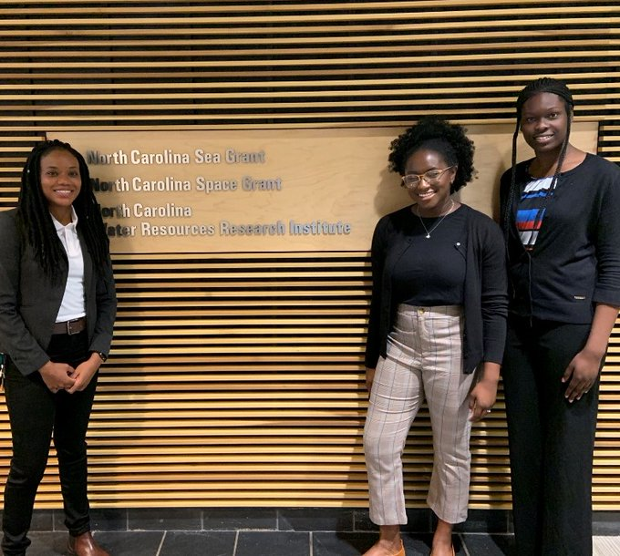 From left, Florida A&M University professor Dr. Michelle Dovil and students Tenesha Washington and Tia Maxwell participated in the 2019 Summer Research Team program. They were hosted by North Carolina State University.