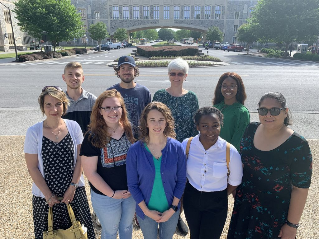 Tougaloo students Madison Bibbs (back row, far right) and Courtney Thomas (front row, second from right) joined a team of researchers from Old Dominion University and Virginia Tech University for summer outreach work. Photo submitted.