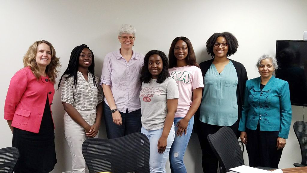 ECSU SRT team with Dr. Tancy Vandecar-Burdin (ODU Social Science Research Center), Dr. Michelle Covi, and SUMREX students from Tougaloo College. Photo submitted.