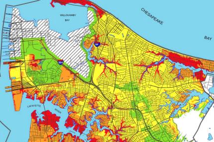 Map of Norfolk flood risk