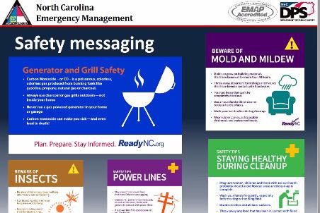 NCEM safety messaging