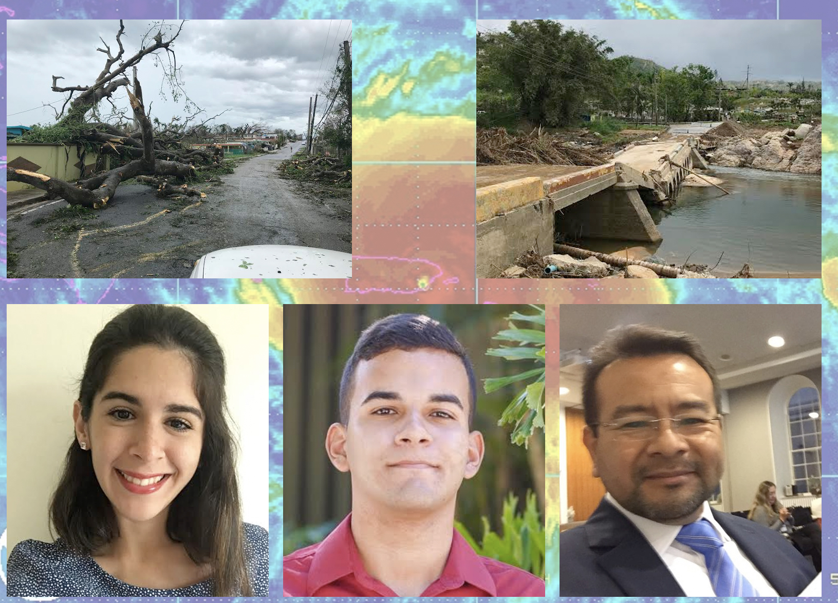 The UPRM team, which includes (left to right) students from Verónica Díaz-Pacheco, Frederick González-Román and project lead Dr. Mauricio Cabrera-Ríos. Photo illustration by Frederick González-Román.