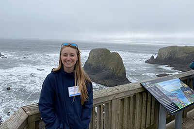 On Straub's tour of the Oregon coast, she visited the Yaquina Head Marine Garden to learn about ongoing research projects.