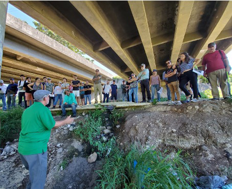 Prof. Ismael Pagán-Trinidad of the University of Puerto Rico-Mayagüez leads a site visit with a class as part of a three-day event conducted with federal partners in 2019. Photo submitted.