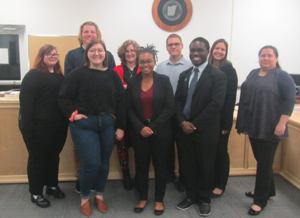 UWF students after their presentation to Calhoun County officials. Photo submitted.